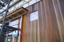 里山25-外壁杉板張り工事2